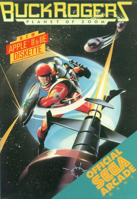 Buck Rogers: Planet of Zoom Apple II Front Cover