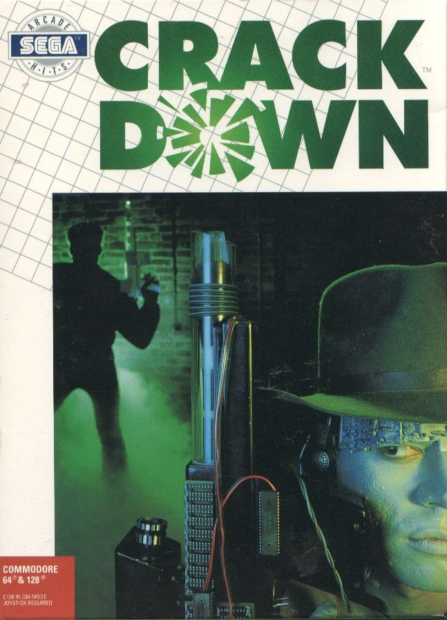 Crack Down Commodore 64 Front Cover