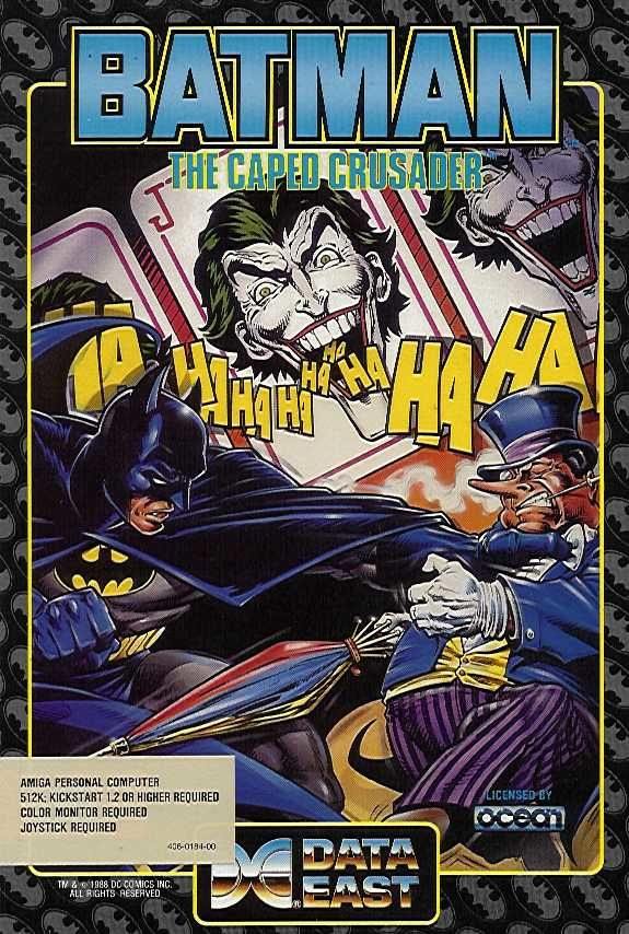 Batman: The Caped Crusader Amiga Front Cover