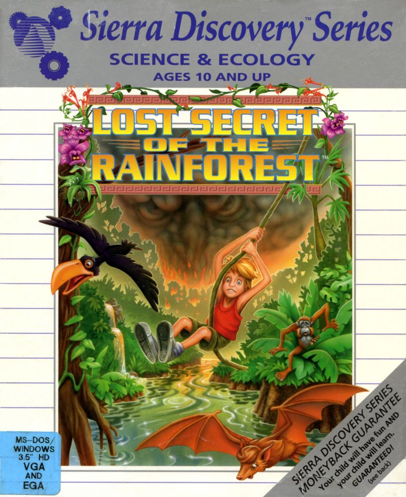 Lost Secret of the Rainforest DOS Front Cover