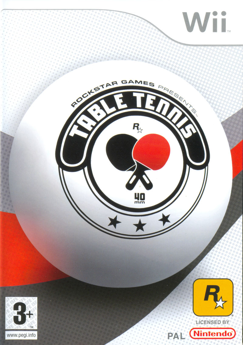 Rockstar Games presents Table Tennis Wii Front Cover