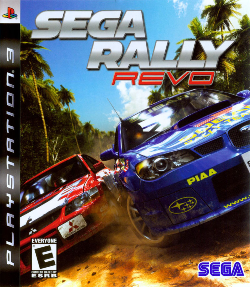SEGA Rally Revo PlayStation 3 Front Cover