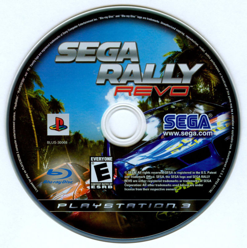 SEGA Rally Revo PlayStation 3 Media