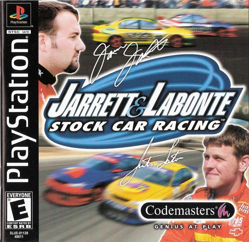 Jarrett & Labonte Stock Car Racing PlayStation Front Cover