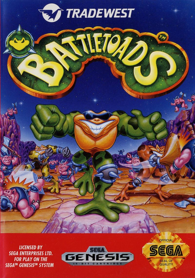 Battletoads 1991 Genesis Box Cover Art Mobygames
