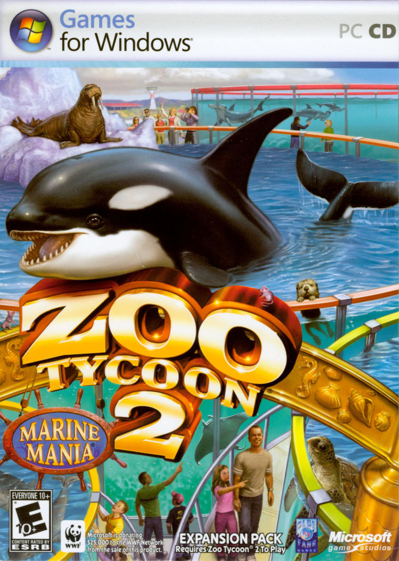 Zoo Tycoon 2: Marine Mania Windows Front Cover