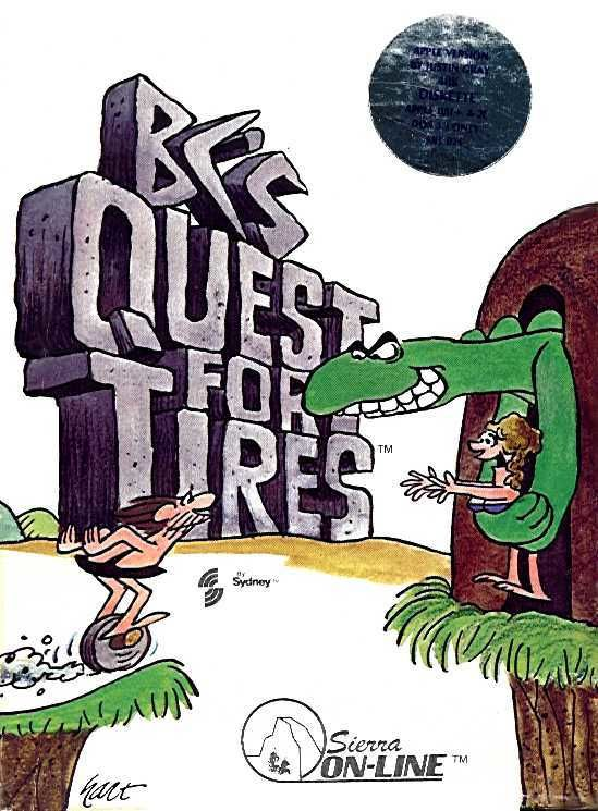 BC's Quest for Tires Apple II Front Cover