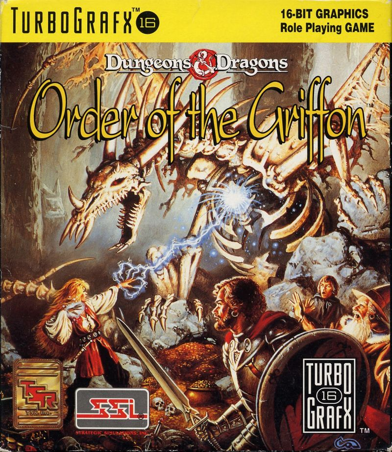 Order of the Griffon TurboGrafx-16 Front Cover