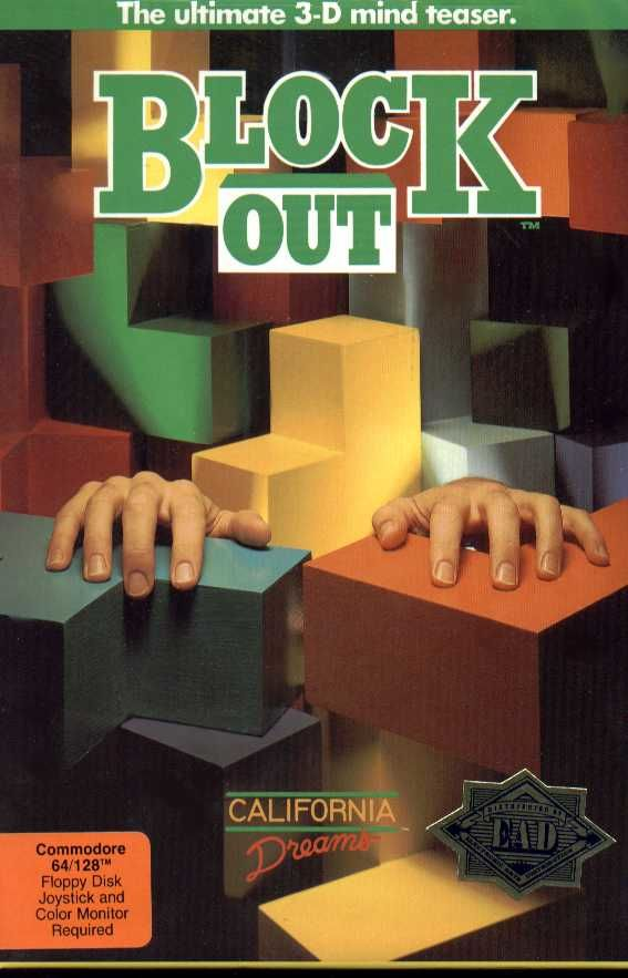 Blockout Commodore 64 Front Cover