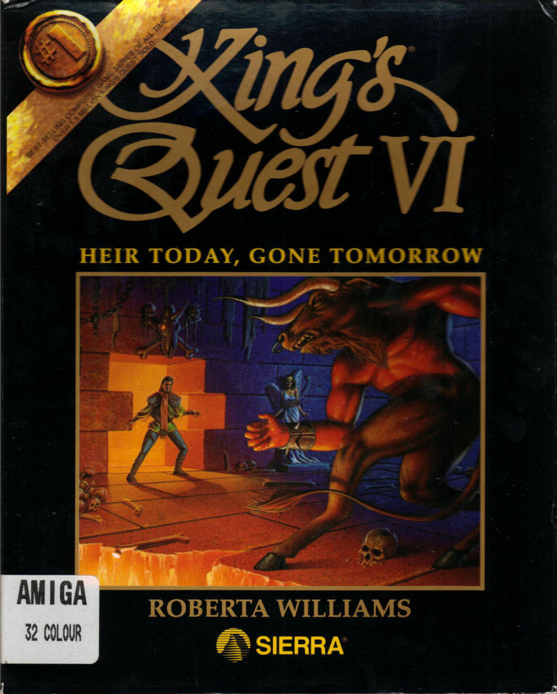 King's Quest VI: Heir Today, Gone Tomorrow Amiga Front Cover