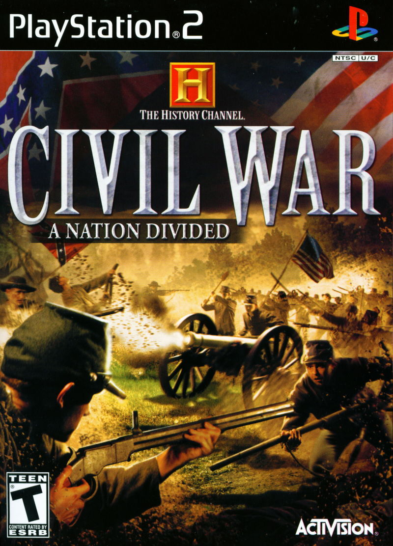 The History Channel: Civil War - A Nation Divided PlayStation 2 Front Cover