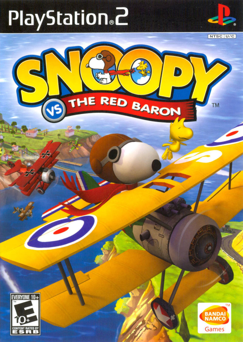 Snoopy vs. the Red Baron PlayStation 2 Front Cover