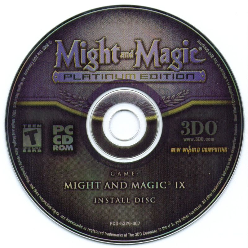 Might and Magic (Platinum Edition) Windows Media Might and Magic IX Install Disc