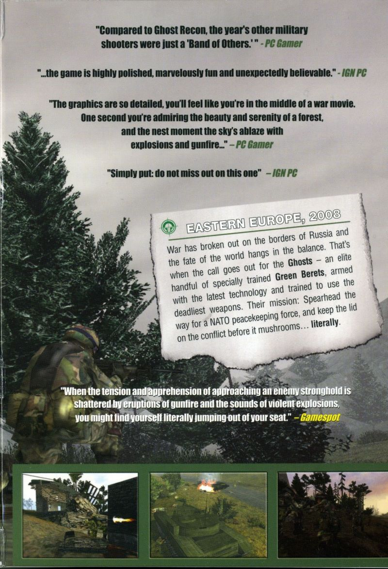 Tom Clancy's Ghost Recon Windows Inside Cover Right Flap