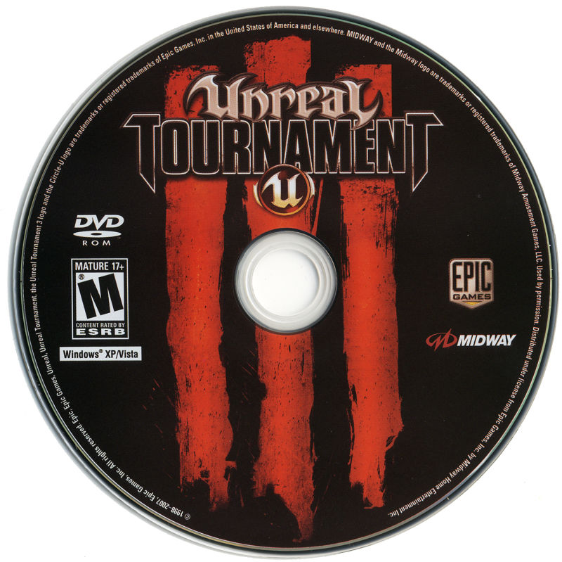 Unreal Tournament III (Collector's Edition) Windows Media Game Disc