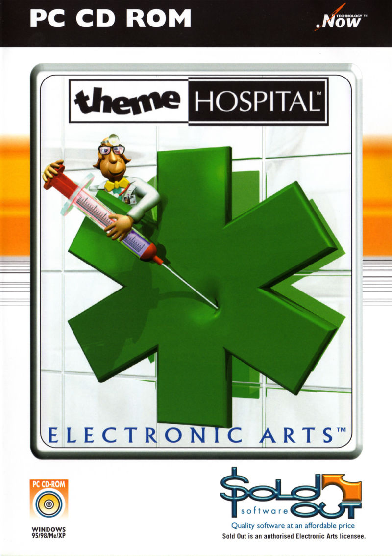 Theme Hospital Windows Front Cover