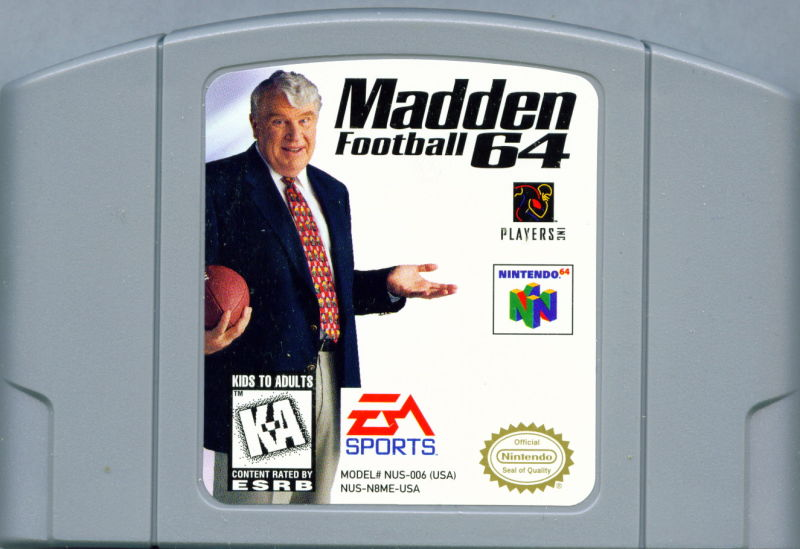 Madden Football 64 Nintendo 64 Media