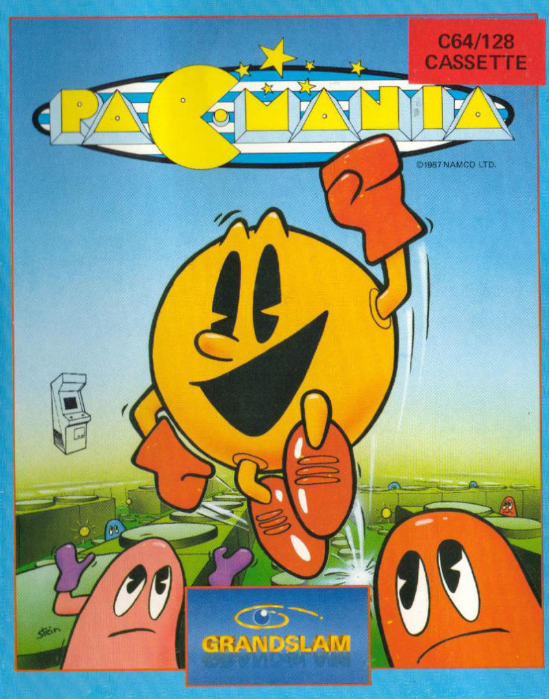 Pac-Mania Commodore 64 Front Cover