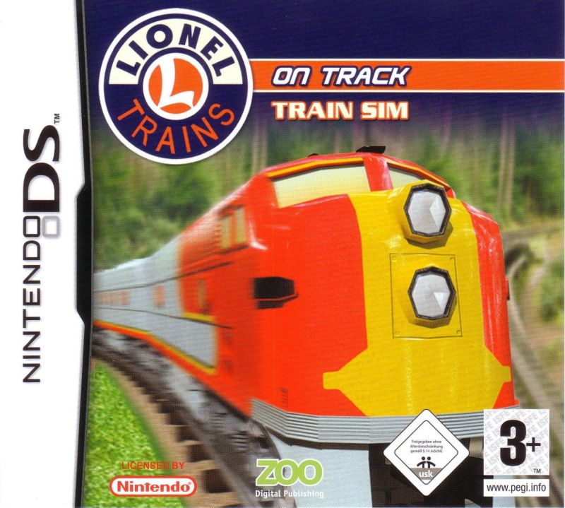 Lionel Trains on Track Nintendo DS Front Cover