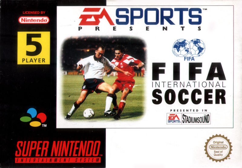 FIFA International Soccer SNES Front Cover