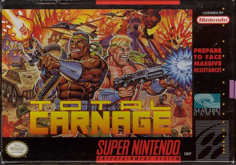 Total Carnage SNES Front Cover