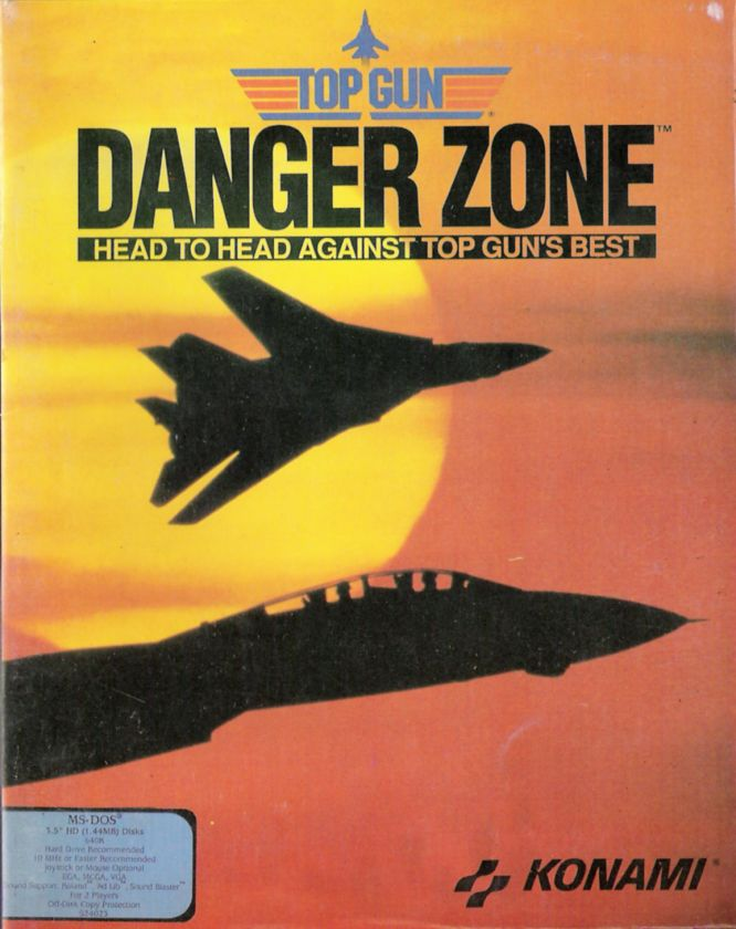 Top Gun: Danger Zone DOS Front Cover