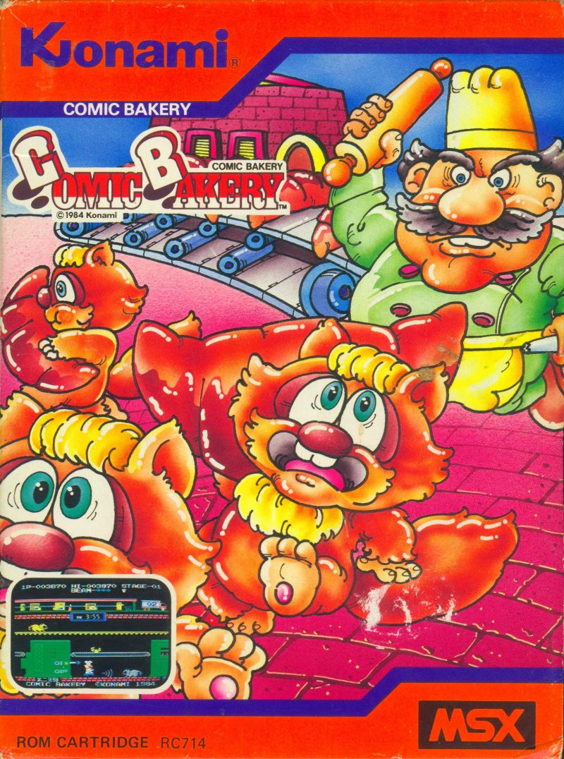 Comic Bakery MSX Front Cover