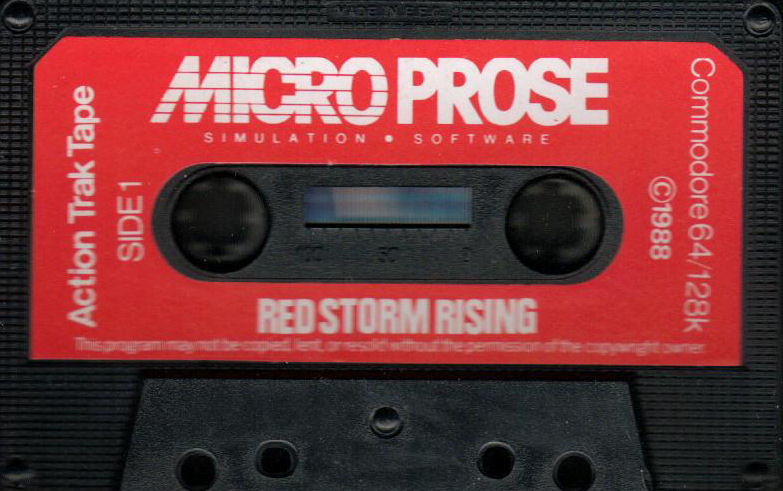 Red Storm Rising Commodore 64 Media - Action Trak Tape