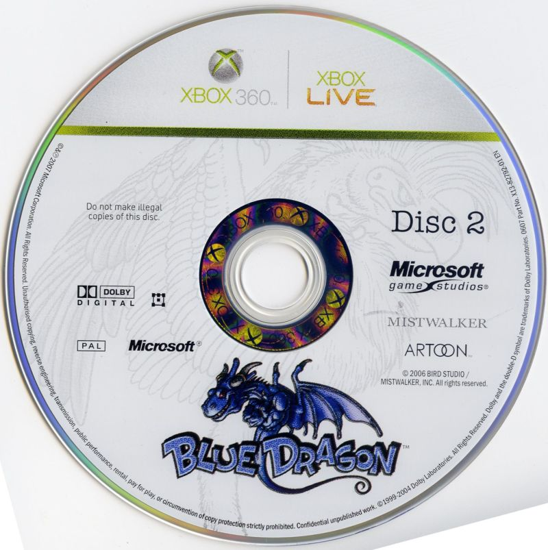 Blue Dragon Xbox 360 Media Disc 2/3