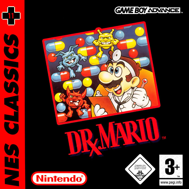 Dr. Mario Game Boy Advance Front Cover
