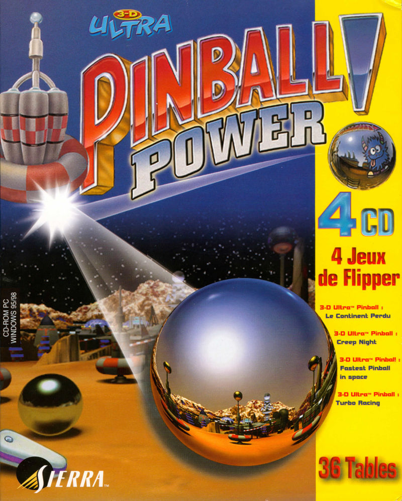 3-D Ultra Pinball: Power! Windows Front Cover