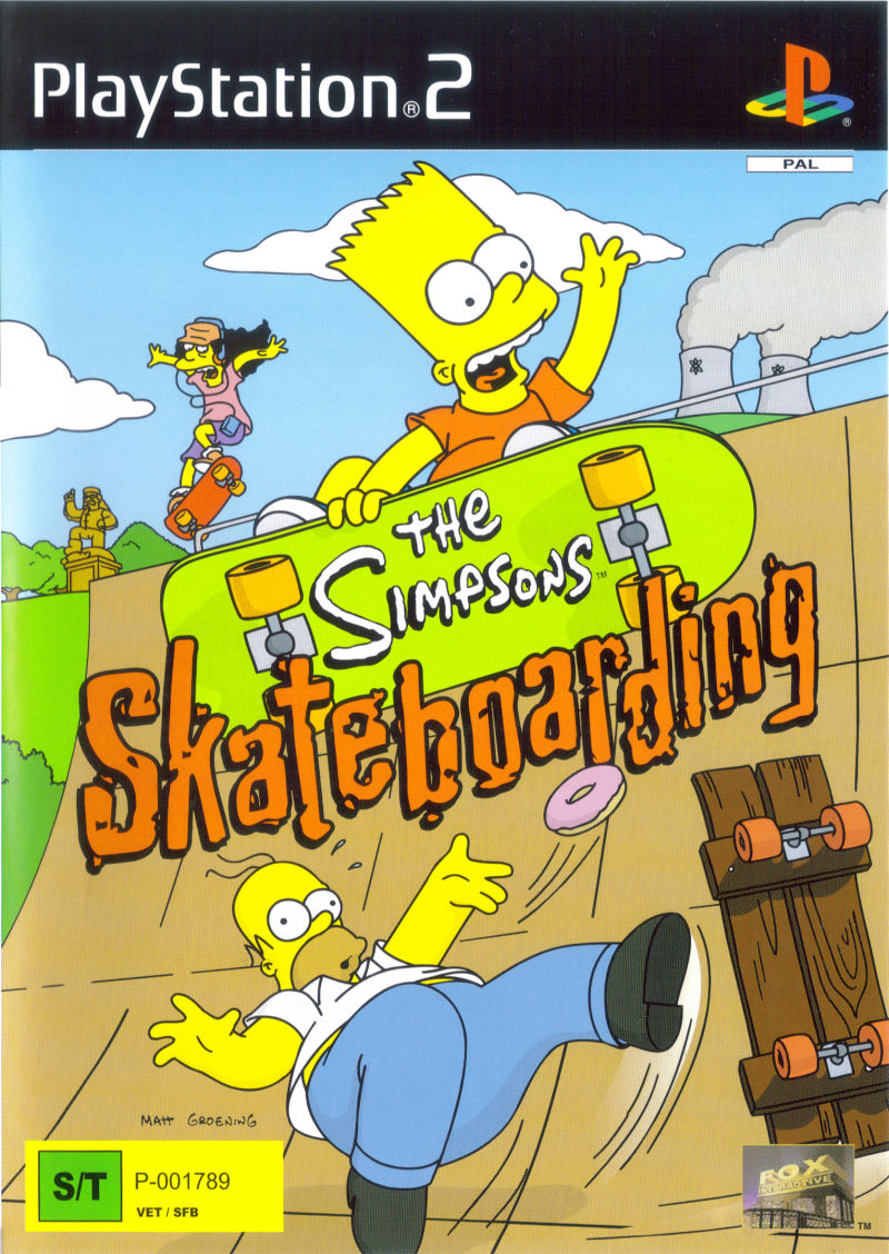 The Simpsons Skateboarding PlayStation 2 Front Cover