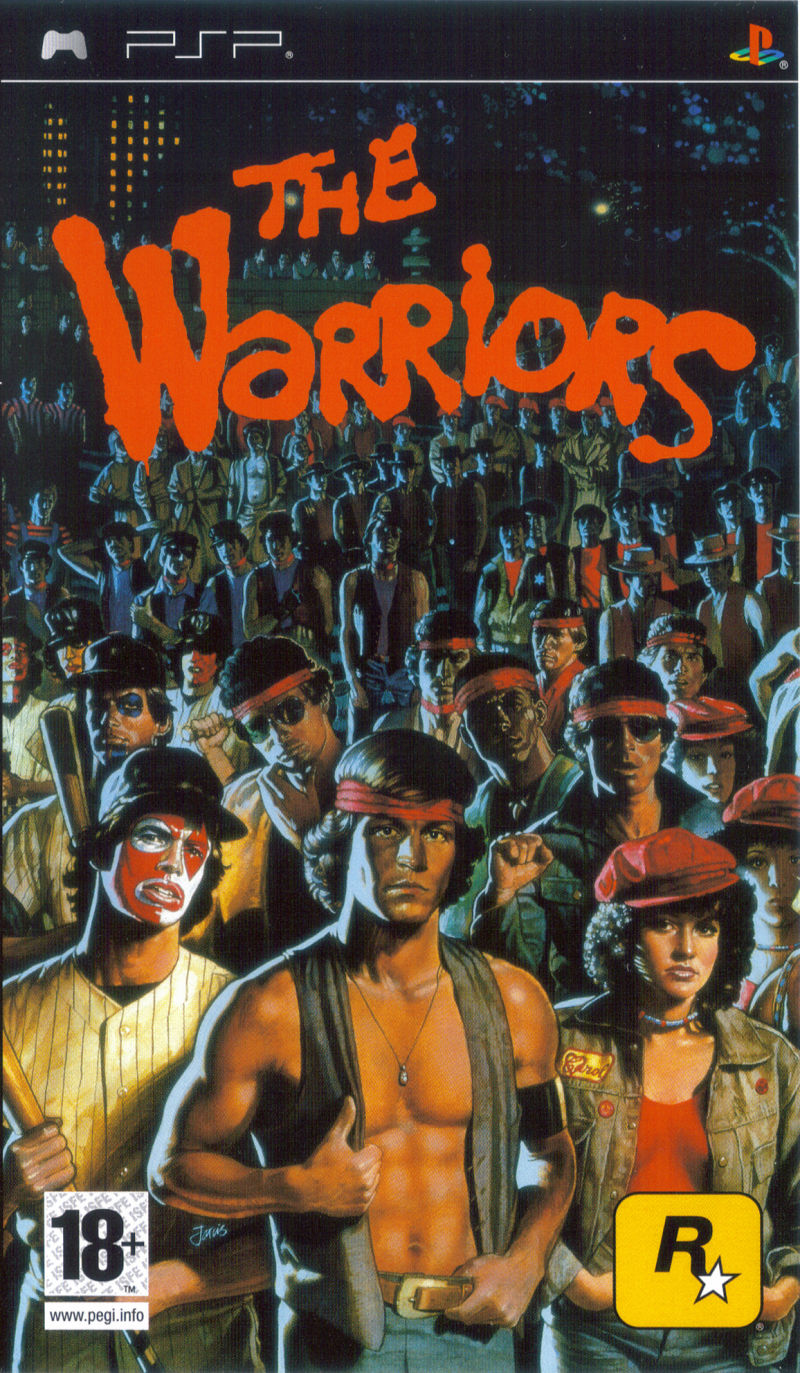 The Warriors PSP Front Cover