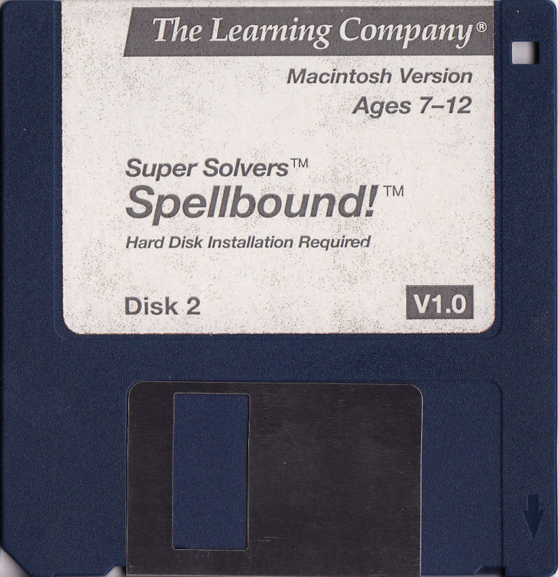 Super Solvers: Spellbound! Macintosh Media White disk
