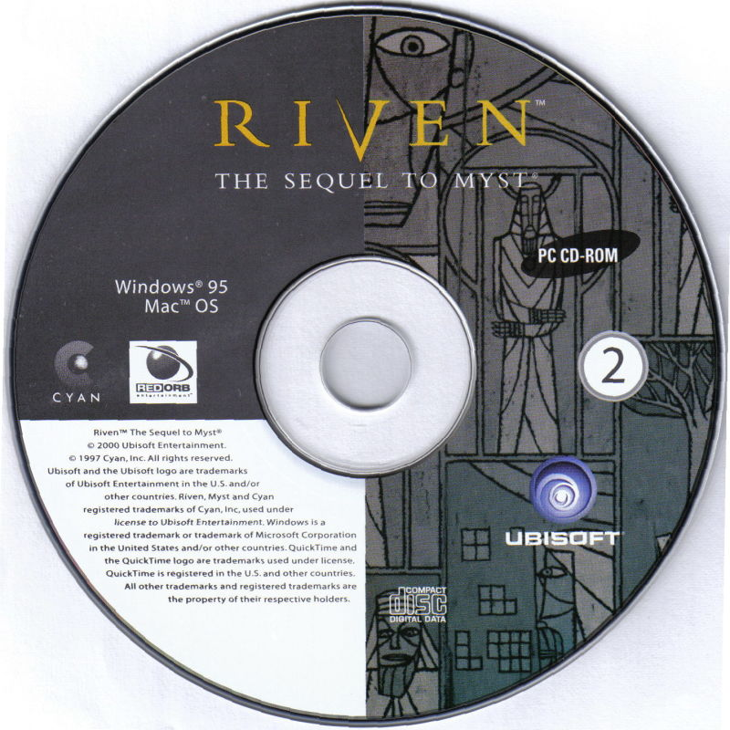 Riven: The Sequel to Myst Macintosh Media Disc 2
