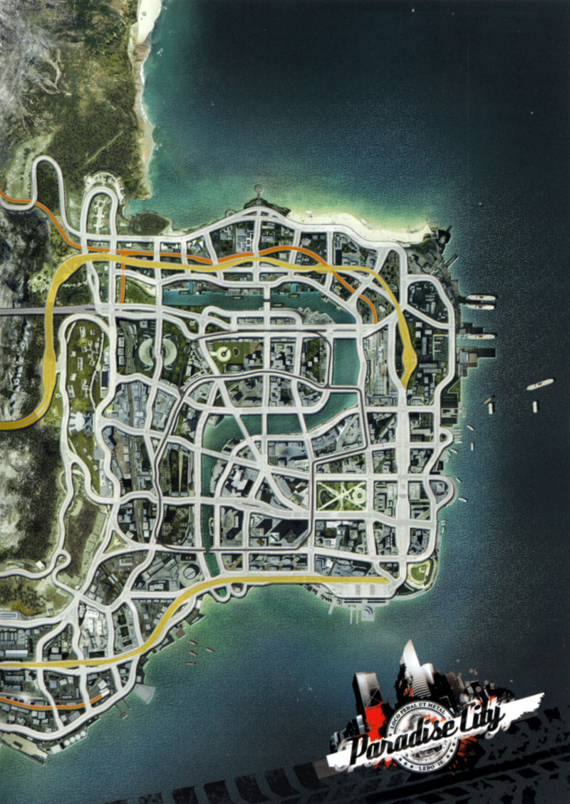 Burnout Paradise Xbox 360 Inside Cover Right