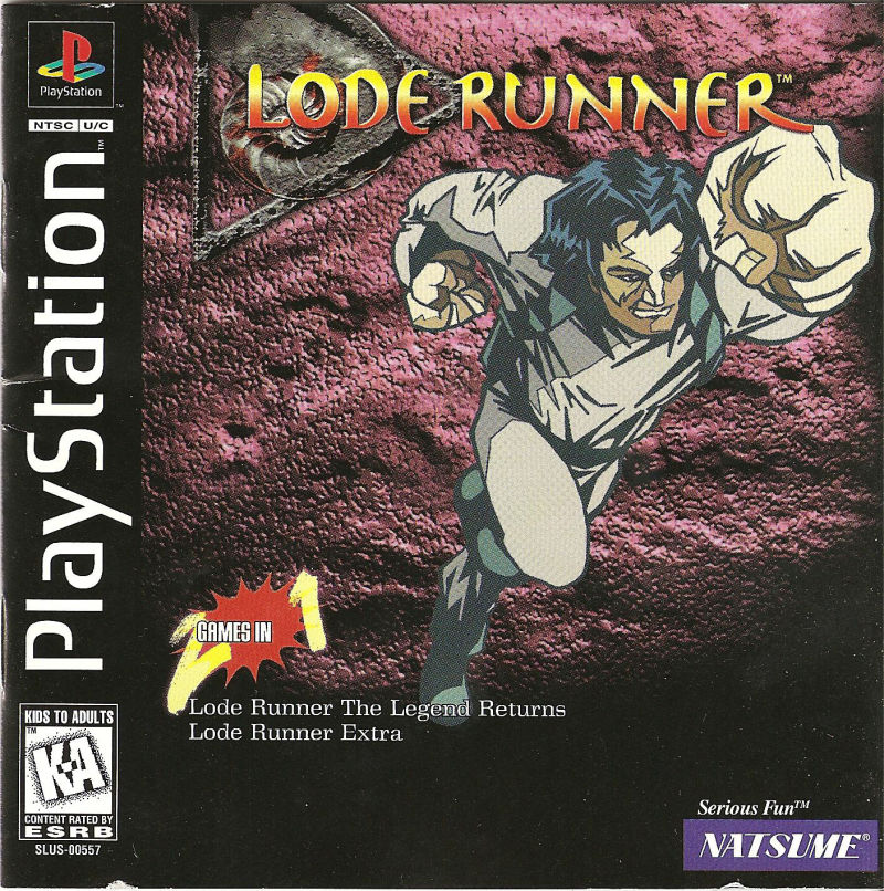 Lode Runner: The Legend Returns PlayStation Front Cover