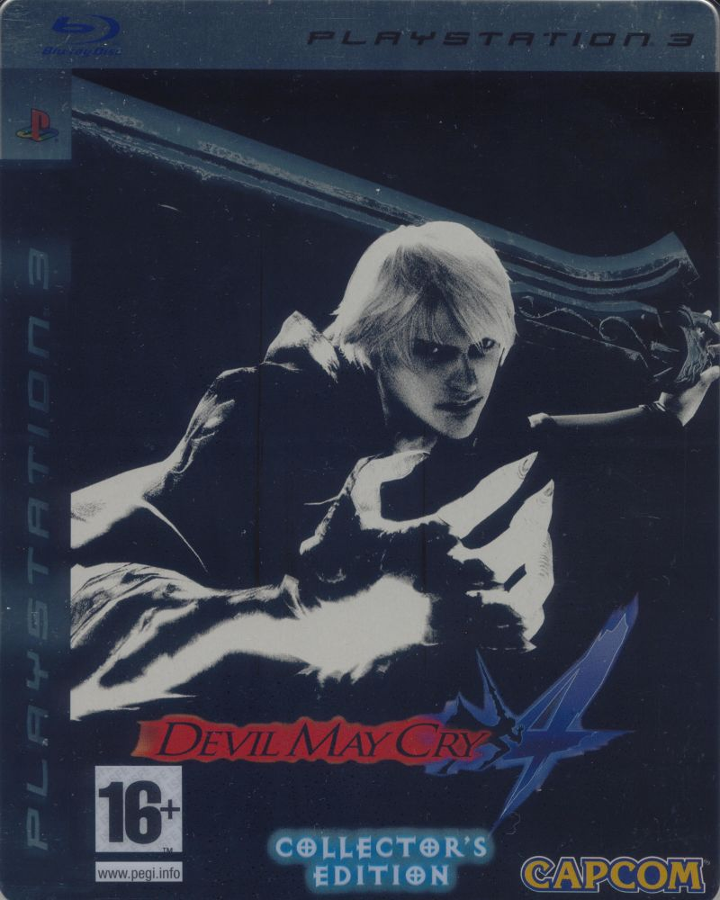 Devil May Cry 4 (Collector's Edition) PlayStation 3 Front Cover slide-in cover present