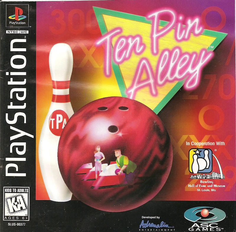 Ten Pin Alley PlayStation Front Cover