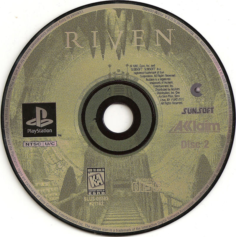 Riven: The Sequel to Myst PlayStation Media Disc 2
