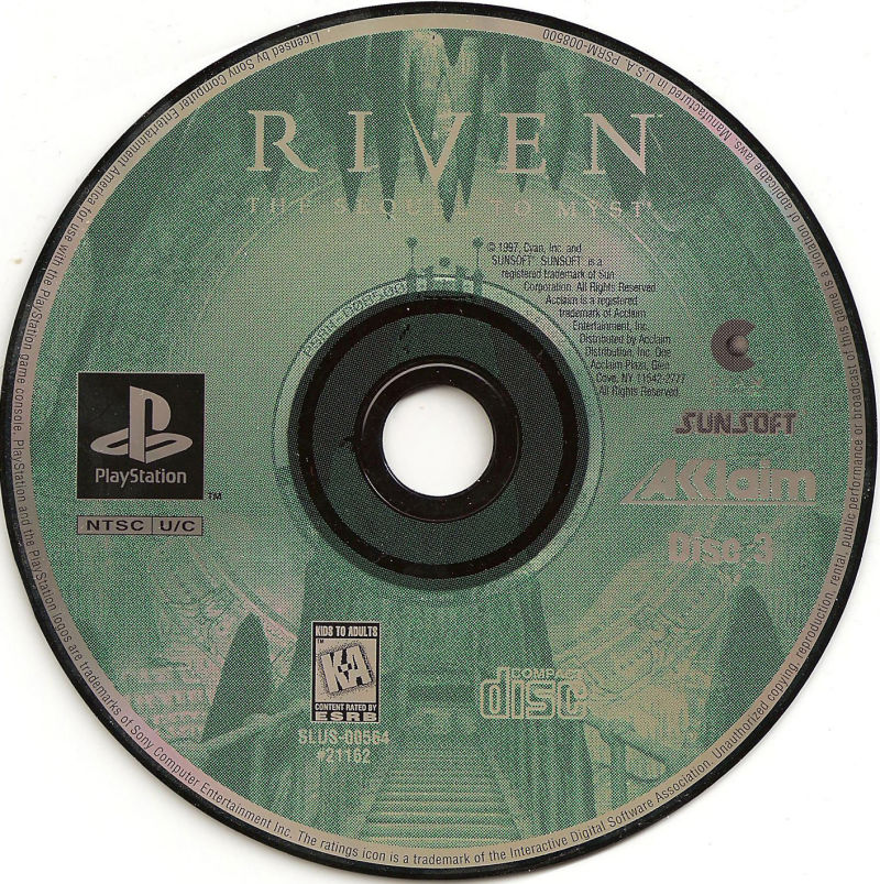 Riven: The Sequel to Myst PlayStation Media Disc 3