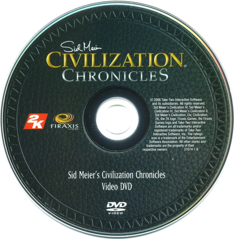 Sid Meier's Civilization Chronicles Windows Media Video DVD