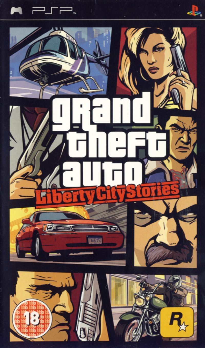 Grand Theft Auto: Liberty City Stories PSP Front Cover