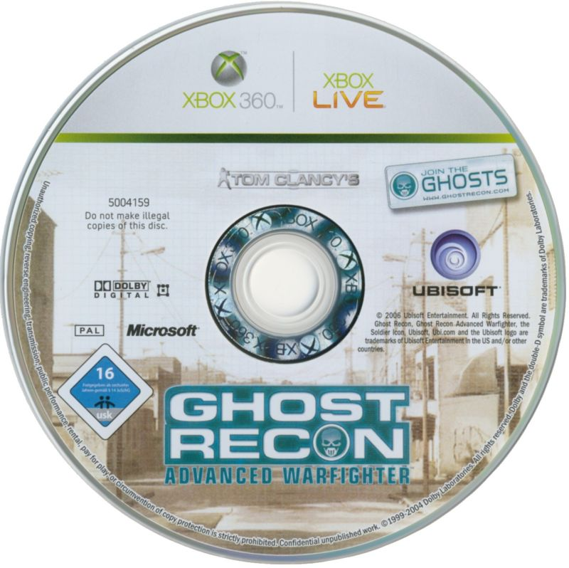 Tom Clancy's Ghost Recon: Advanced Warfighter - Premium Edition Xbox 360 Media