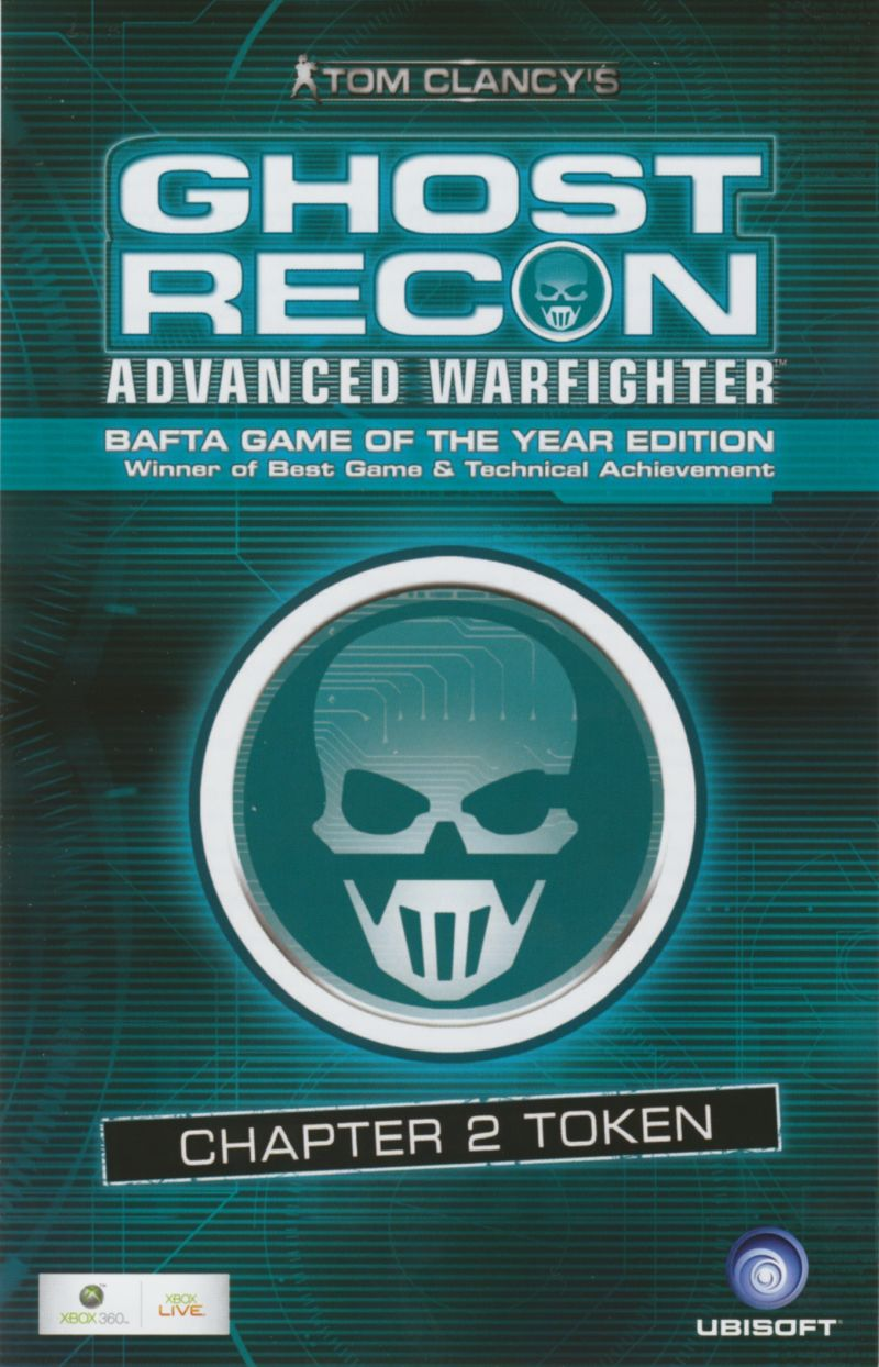 Tom Clancy's Ghost Recon: Advanced Warfighter - Premium Edition Xbox 360 Other Front of token