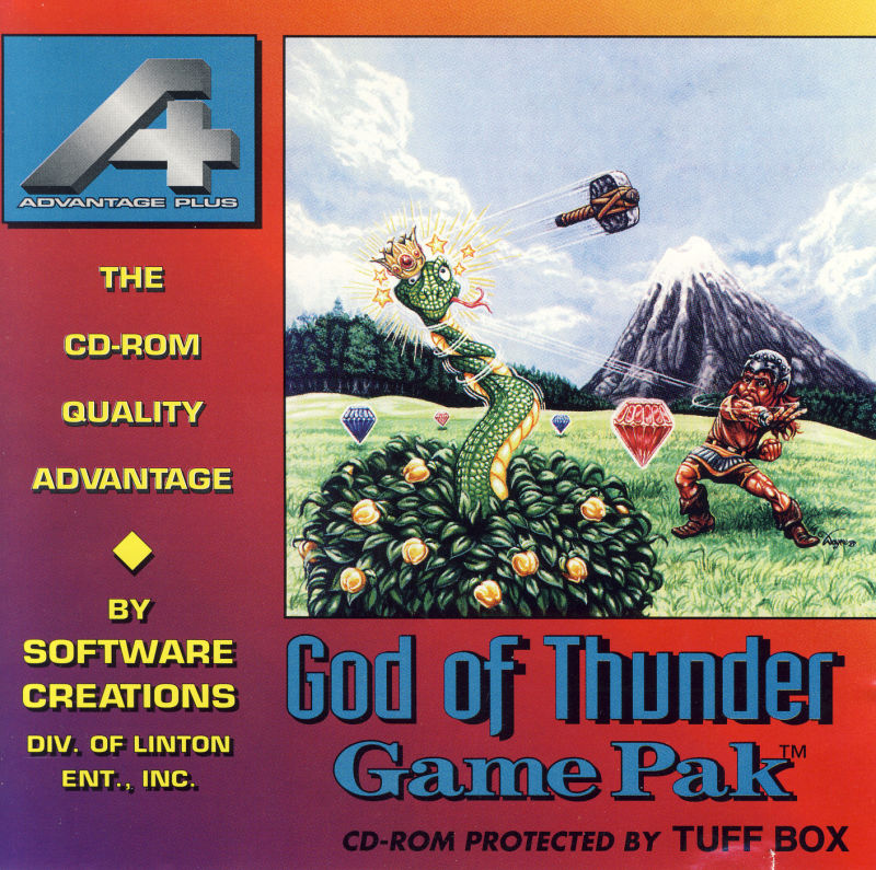 God of Thunder DOS Front Cover