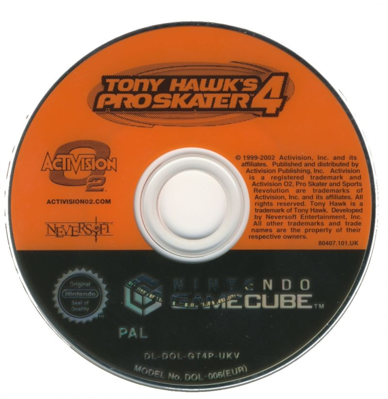Tony Hawk's Pro Skater 4 GameCube Media