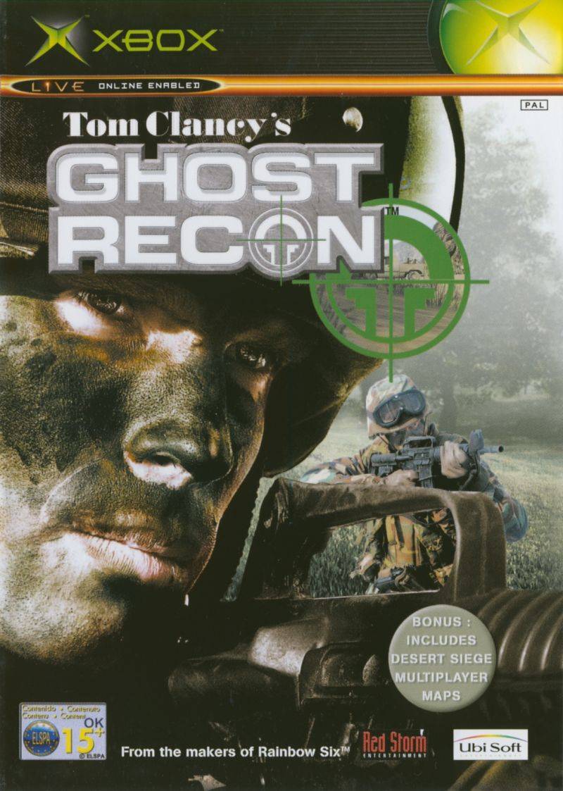 Tom Clancy's Ghost Recon Xbox Front Cover