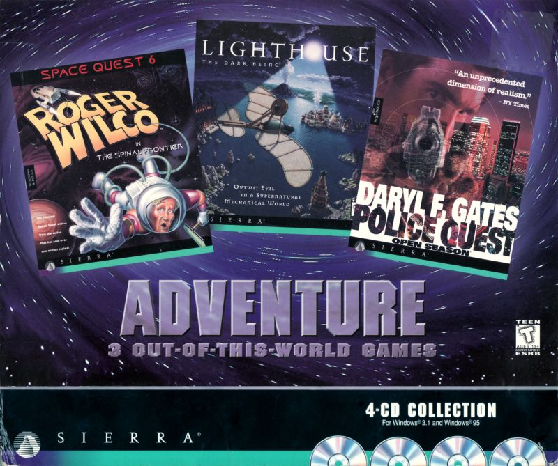 Adventure: 3 Out-Of-This-World Games DOS Front Cover