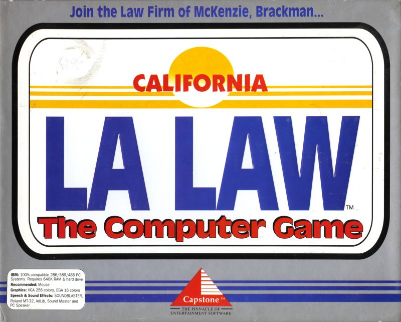 LA Law: The Computer Game DOS Front Cover